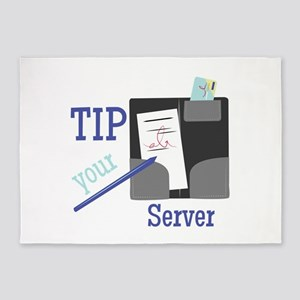 Tip Your Server 5'x7'Area Rug
