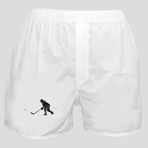 Distressed Hockey Player Silhouette Boxer Shorts