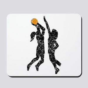Distressed Basketball Players Mousepad