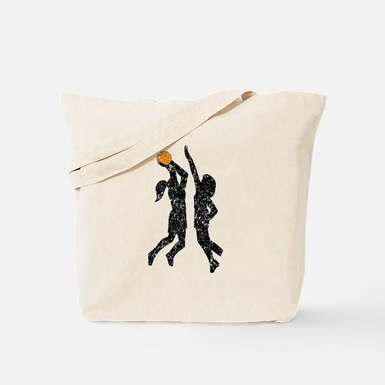 Distressed Basketball Players Tote Bag