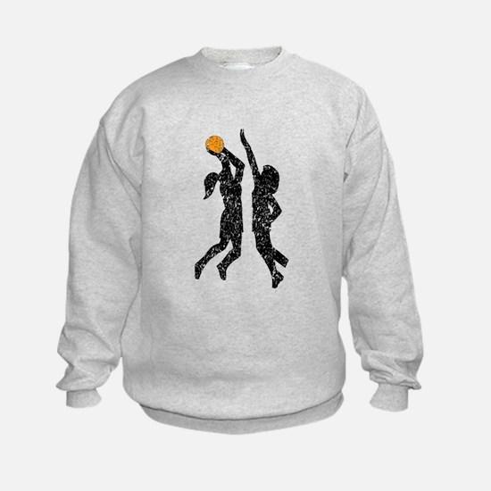 Distressed Basketball Players Sweatshirt