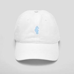 Light Blue Seahorse Baseball Cap