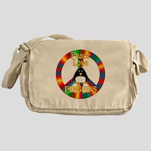 Peace Love Penguins Messenger Bag