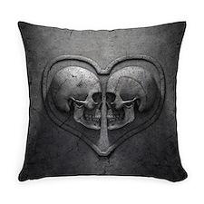 Gothic Skull Heart Everyday Pillow