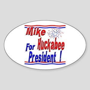 Huckabee for President Oval Sticker