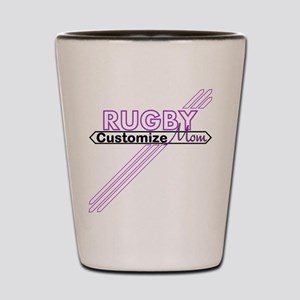 Rugby Sports Mom Shot Glass