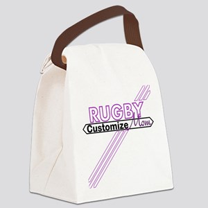 Rugby Sports Mom Canvas Lunch Bag