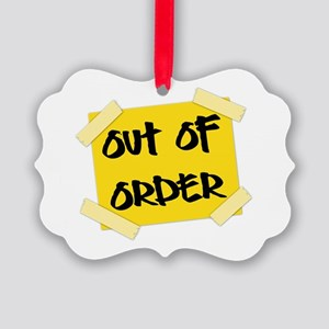 Out of Order Sign Picture Ornament
