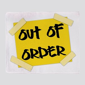 Out of Order Sign Throw Blanket