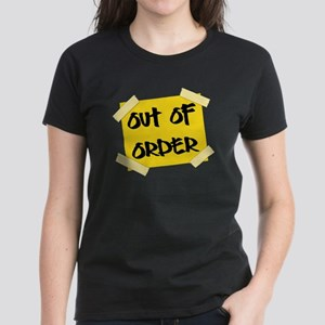 Out of Order Sign Women's Dark T-Shirt