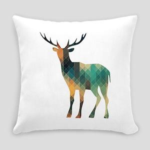 Geometric Deer Everyday Pillow