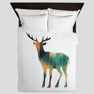Geometric Deer Queen Duvet