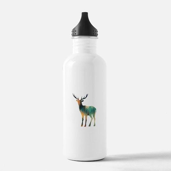 Geometric Deer Water Bottle