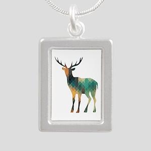 Geometric Deer Necklaces