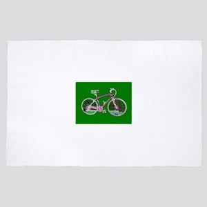 Ditch the Car Ride A Bicycle Green 4Sh 4' x 6' Rug