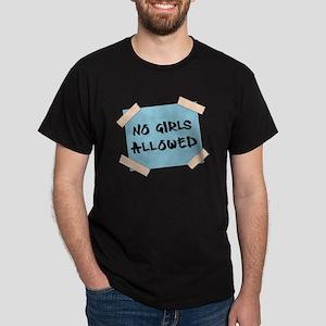 No Girls Allowed Sign Dark T-Shirt