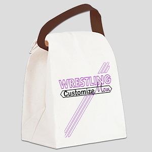 Wrestling Mom Canvas Lunch Bag
