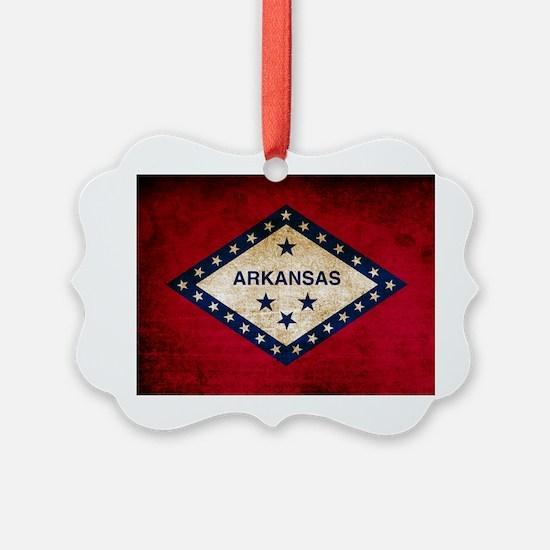 Vintage Flag of Arkansas Ornament
