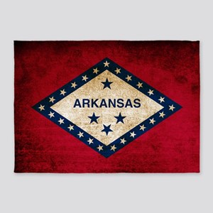 Vintage Flag of Arkansas 5'x7'Area Rug