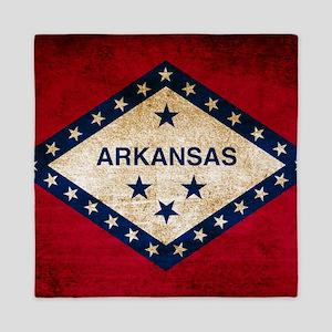 Vintage Flag of Arkansas Queen Duvet