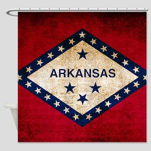 Vintage Flag of Arkansas Shower Curtain