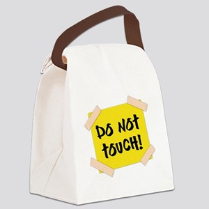 Do Not Touch! Sign Canvas Lunch Bag