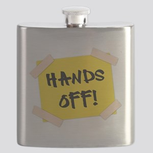 Hands Off! Sign Flask