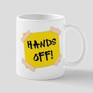 Hands Off! Sign Mug