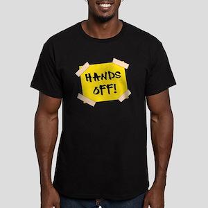 Hands Off! Sign Men's Fitted T-Shirt (dark)