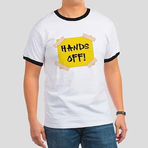 Hands Off! Sign Ringer T