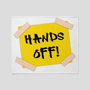 Hands Off! Sign Throw Blanket