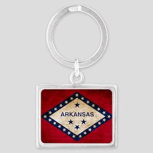 Vintage Flag of Arkansas Keychains