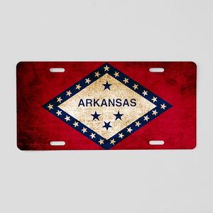Vintage Flag of Arkansas Aluminum License Plate