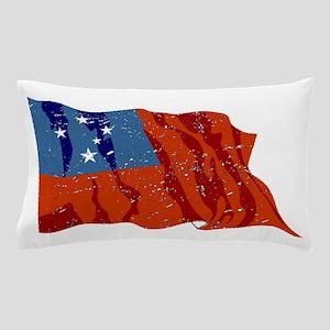 Western Samoa Flag (Distressed) Pillow Case