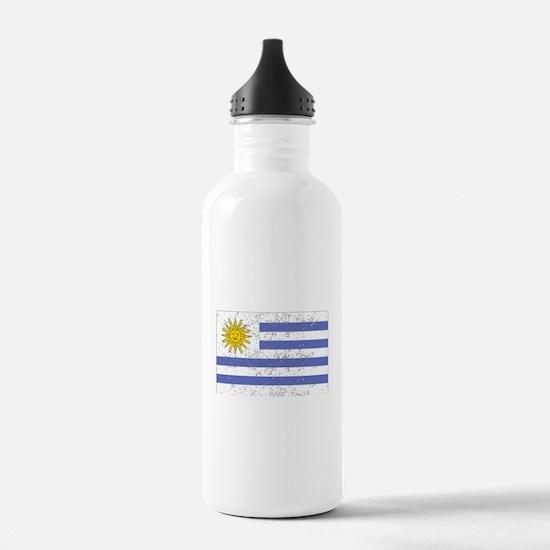 Uruguay Flag (Distressed) Water Bottle