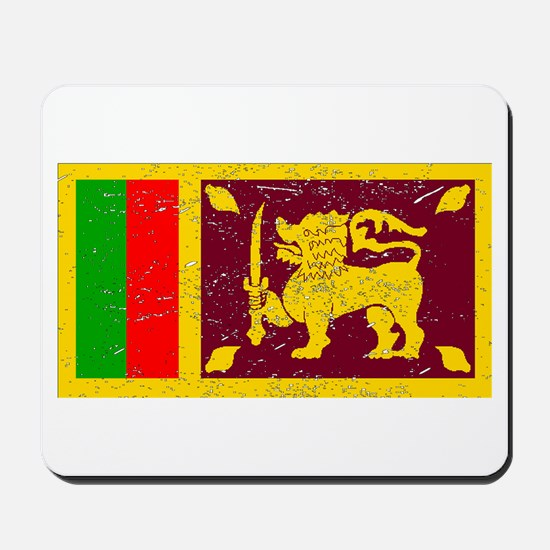 Sri Lanka Flag (Distressed) Mousepad