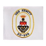 USS HEWITT Throw Blanket
