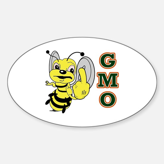 Cute Angry bees Sticker (Oval)