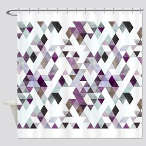 Mixed colors triangles Shower Curtain