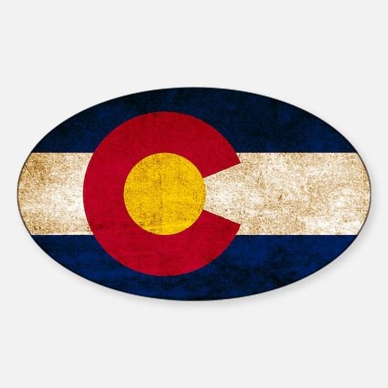 Vintage Flag of Colorado Decal