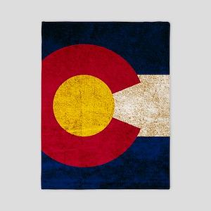 Vintage Flag of Colorado Twin Duvet