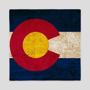 Vintage Flag of Colorado Queen Duvet