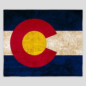 Vintage Flag of Colorado King Duvet