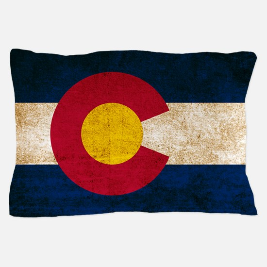 Vintage Flag of Colorado Pillow Case