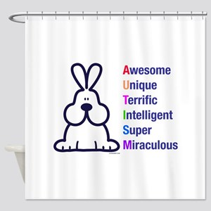 Autism 317 front Shower Curtain