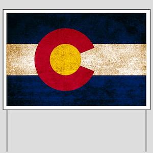 Vintage Flag of Colorado Yard Sign