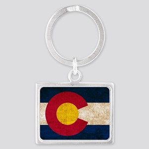 Vintage Flag of Colorado Keychains
