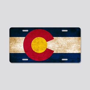 Vintage Flag of Colorado Aluminum License Plate