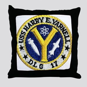 USS HARRY E. YARNELL Throw Pillow