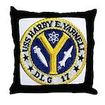 USS HARRY E. YARNELL Throw Pillow